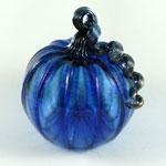 Medium Glass Pumpkin - Blue