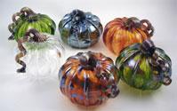 Glass pumpkins - hand made